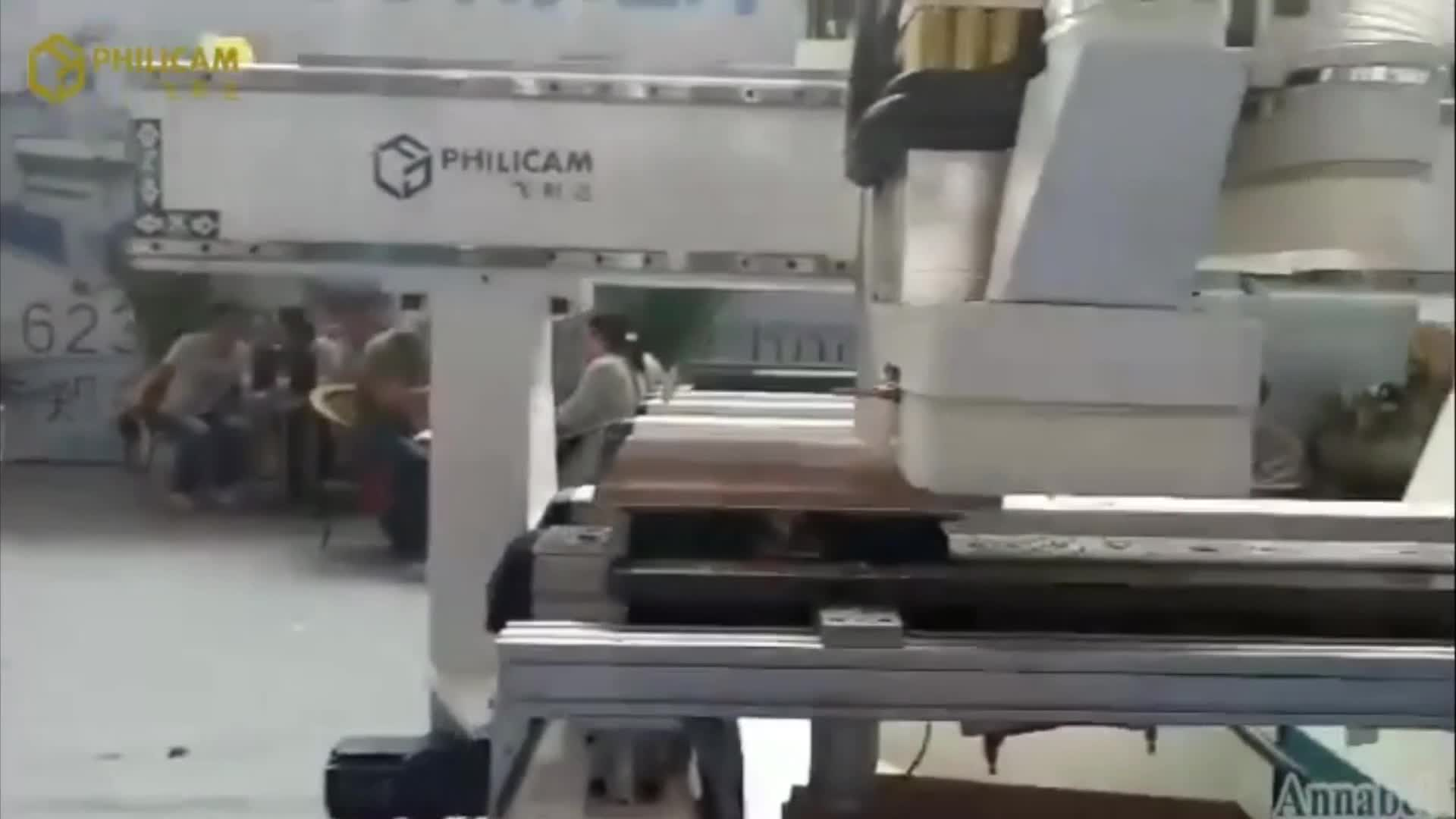 2017 Philicam PTP Side Drilling CNC Router Wood Working Carving Machinery