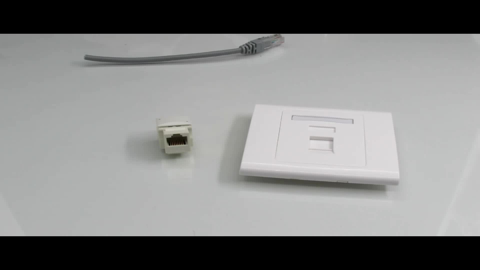 Amp Cat6 Rj45 Connector For Wall Switch With Ul