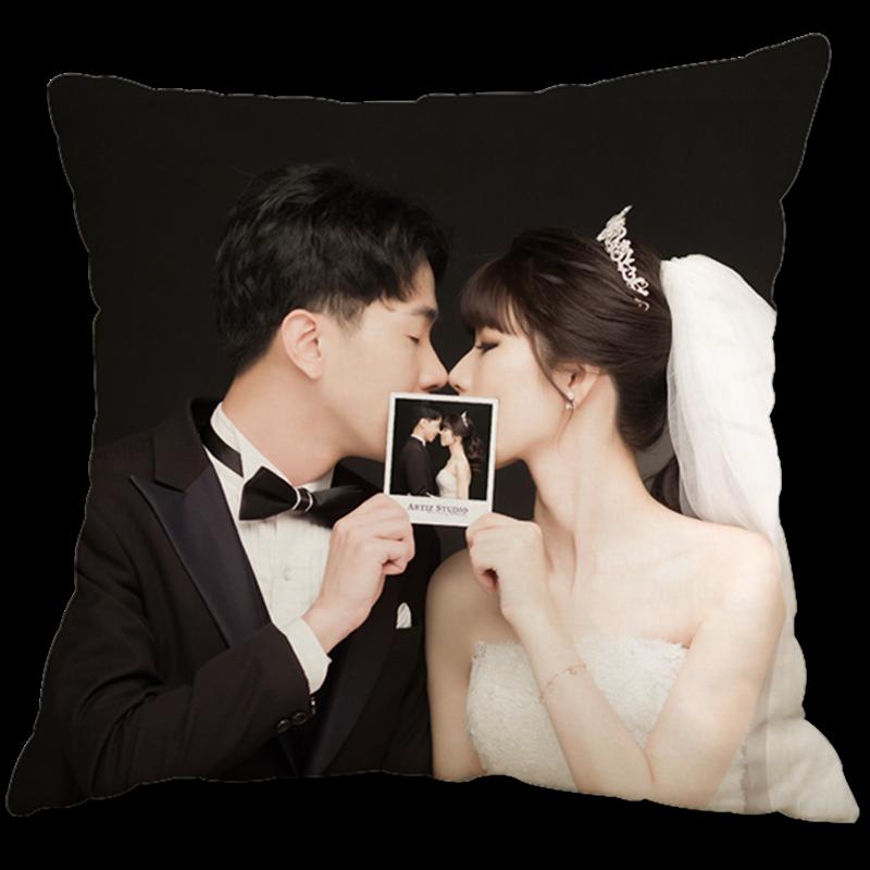 靠垫枕头图片制作真人照片两面抱枕定制私人diy来图定做可印双面-给呗网