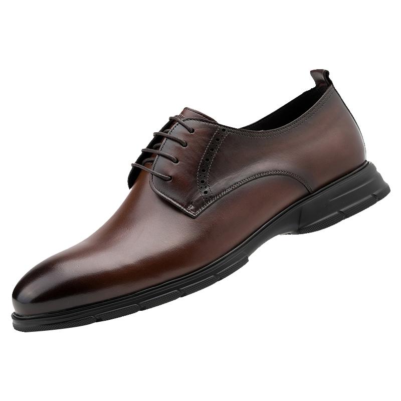 金利来2021春季新款男士软皮男鞋质量好不好