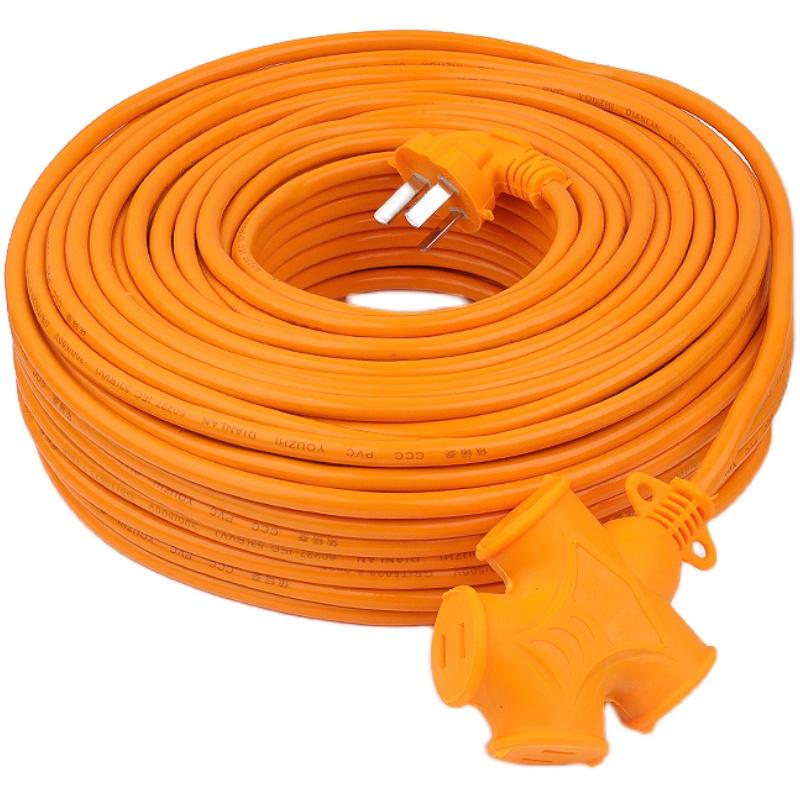超长加长插线板接线板电动车充电电源延长线排插插座10/30/50米