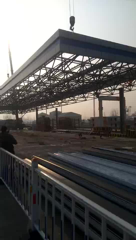 Cost Of Used Gas Petrol Station Canopy Construction Design