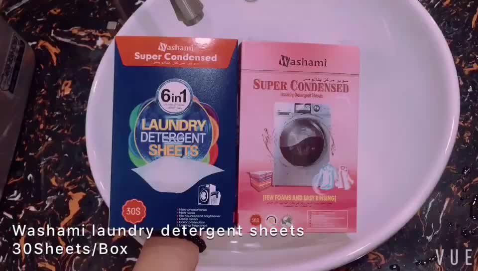 New Double cleaning effect 6 in 1 Super Condensed Best Clothes Laundry Detergent Sheets