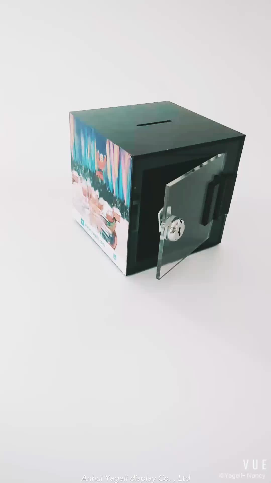 factory made donation acrylic donation box ideas box with lock and