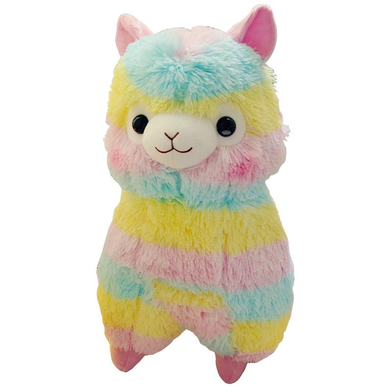 可爱萌彩虹羊驼公仔小羊驼彩色抱枕好不好用