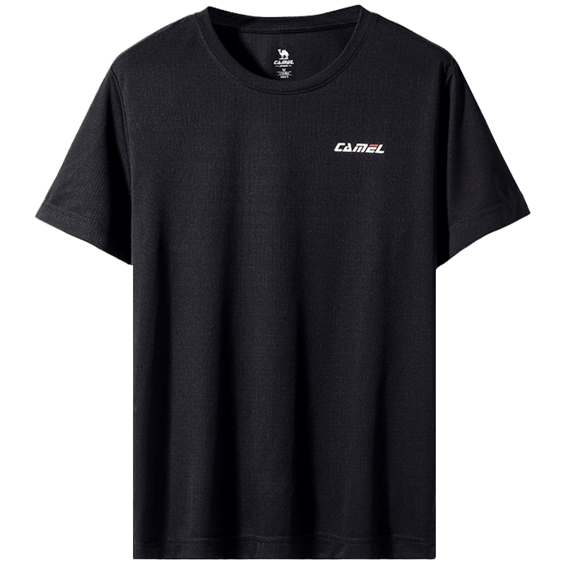 骆驼短袖速干衣男 夏季宽松跑步健身服透气半袖衫女士上衣运动t恤