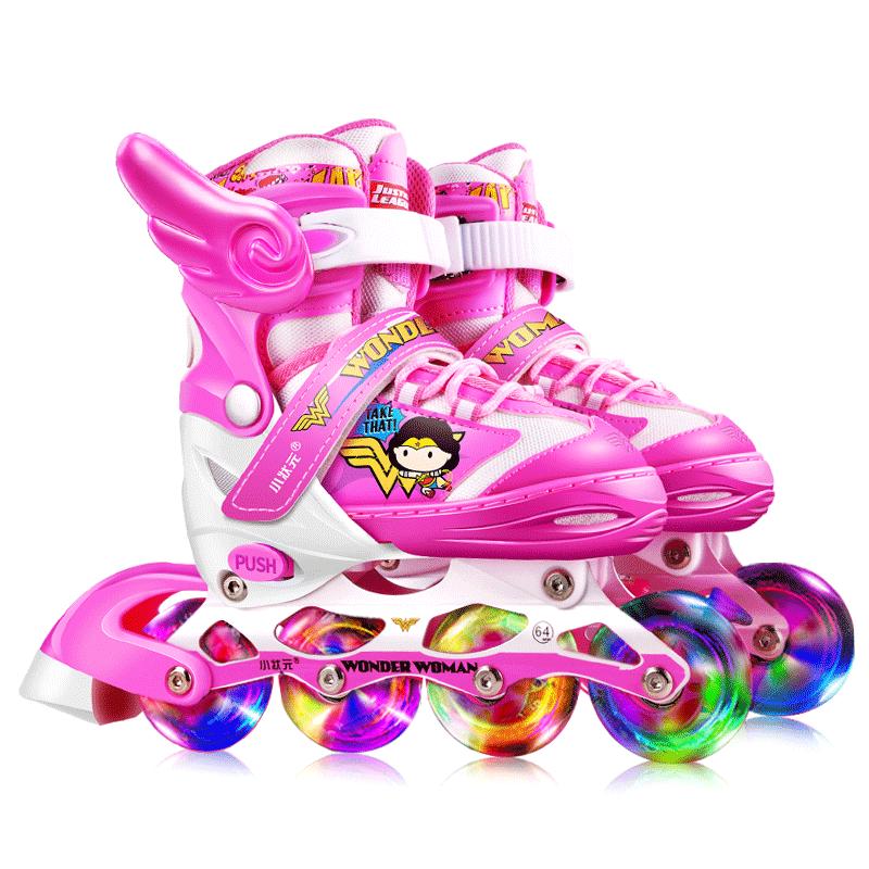 小状元溜冰鞋儿童全套装男女旱冰轮滑鞋直排轮初学者3-5-6-8-10岁
