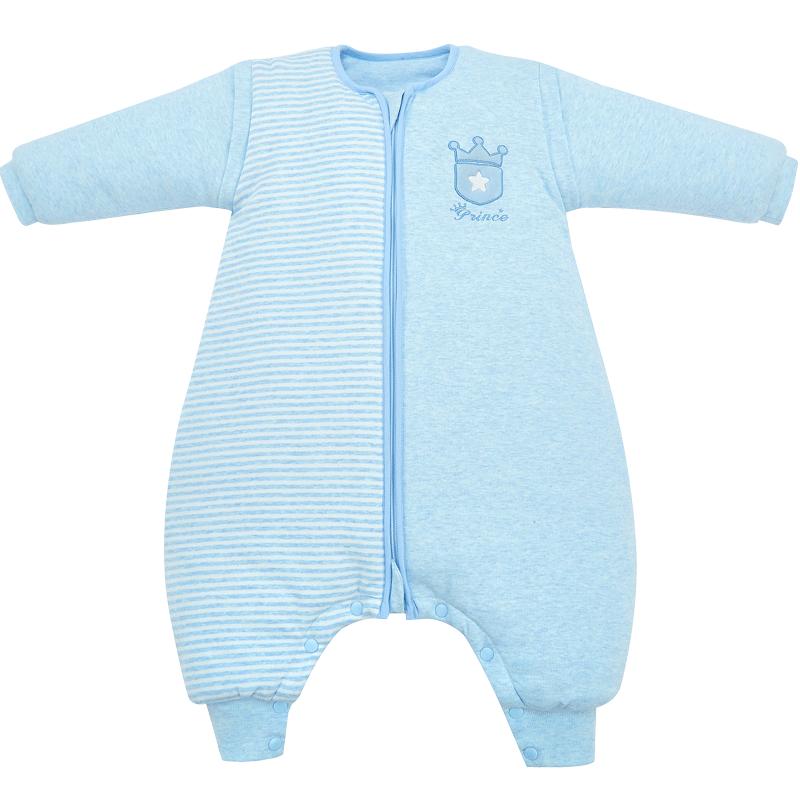 笑巴喜宝宝睡袋婴儿厚款秋冬纯棉防踢被小孩儿童幼儿四季通用被子