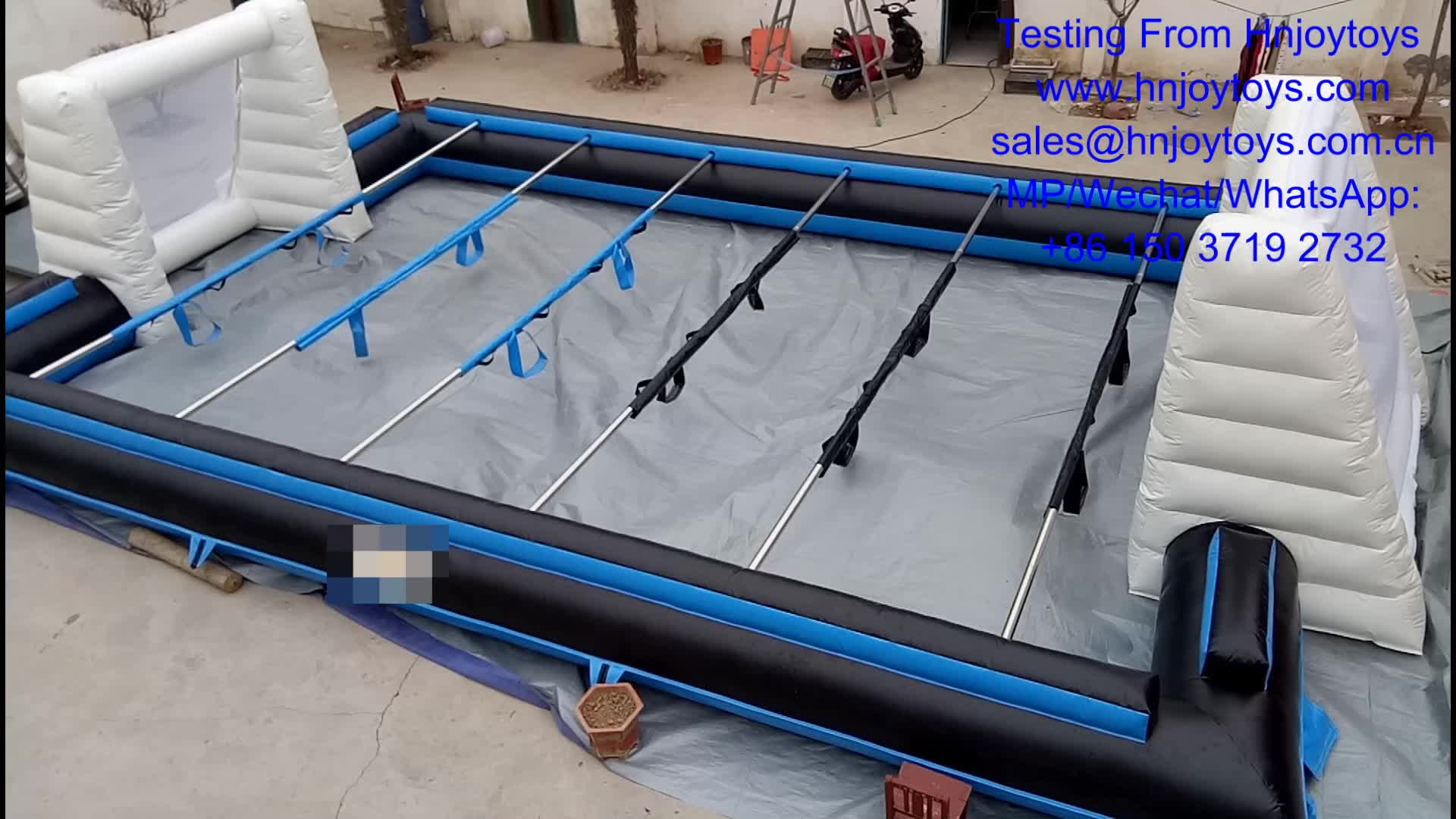 Very cheap For kids and adult very durable inflatable human table football hire for sale