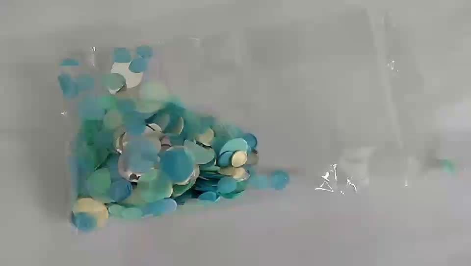 Biodegradável Eco Friendly cores sortidas círculos e Tissue Paper glitter Confete de papel para limpar balão do coração