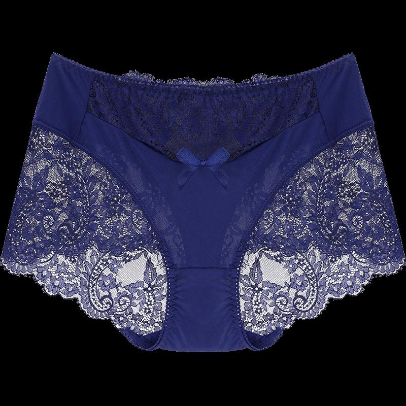 性感蕾丝纯棉中腰女士三角裤3条装