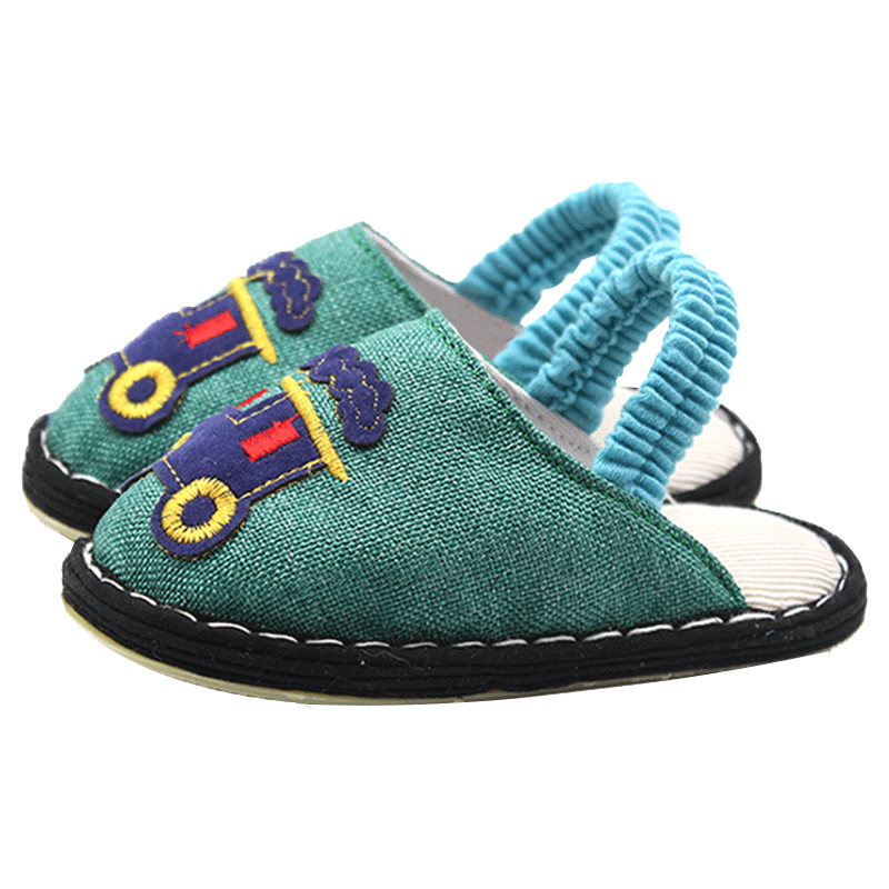 手工纳底春秋儿童家居婴儿棉拖鞋质量怎么样