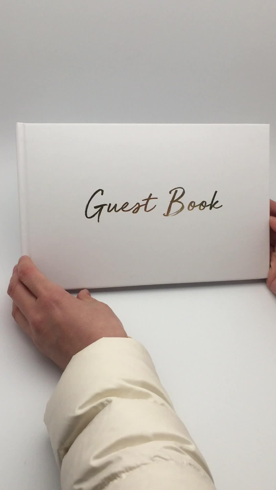 Dilian boda 2018 nuevo libro de invitados para el mercado europeo