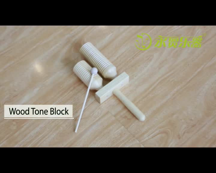 Wooden percussion instrument three tone block agogo