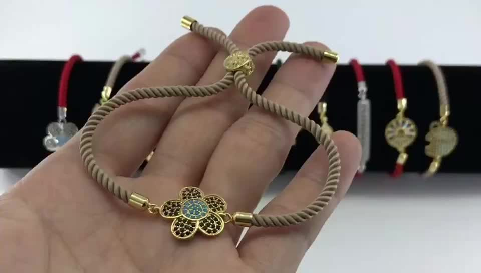 Cute Pineapple Connector Red String Bracelet Gold DIY 18K Gold Bracelet Cheap Price Bracelet