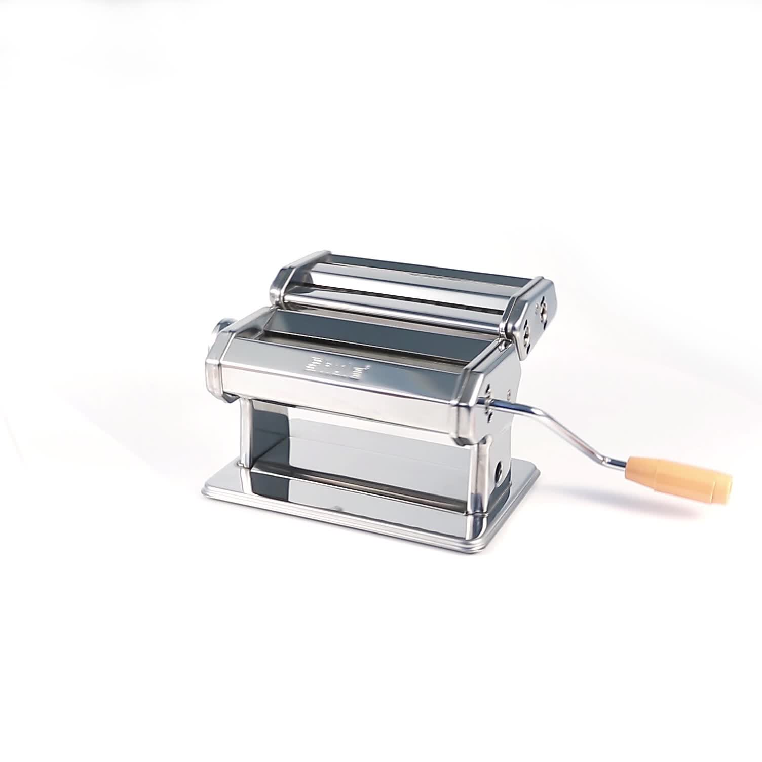 नूडल निर्माता होम ताजा हाथ संचालित स्टेनलेस स्टील पास्ता बनाने की मशीन इटली
