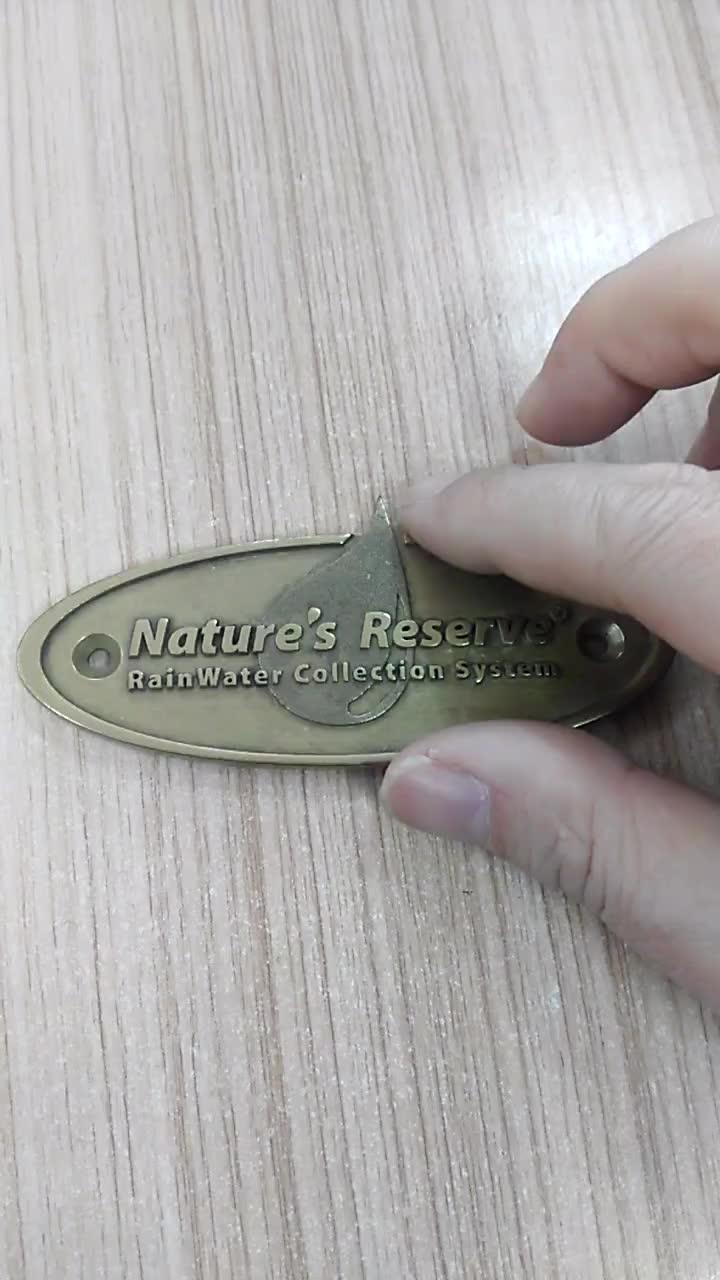 metal embossed 3D logo plaque