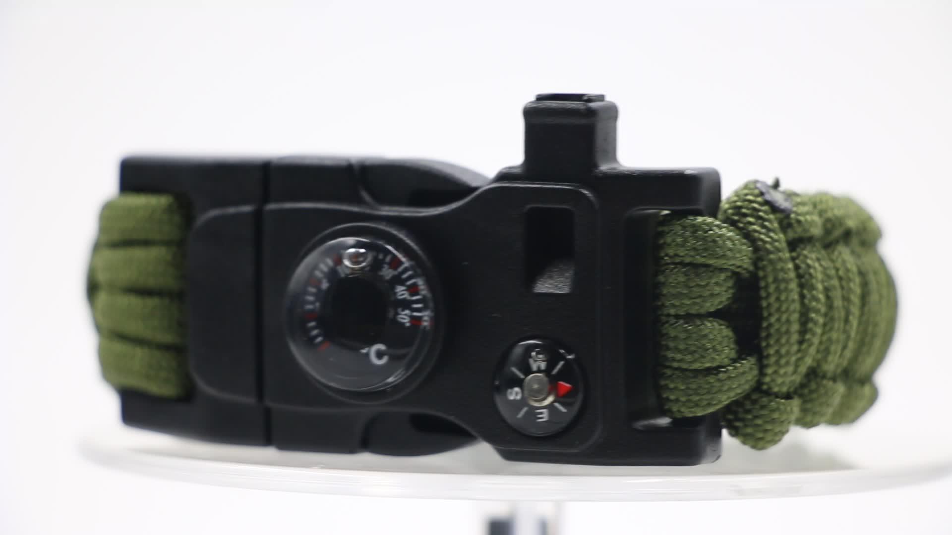 Cmart Khẩn Cấp Bán Buôn Đi Bộ Đường Dài Cắm Trại Ngoài Trời Paracord Survival Bracelet với Đa Tool