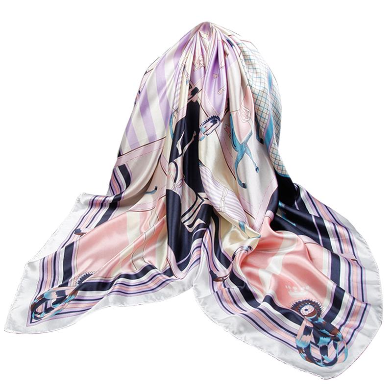 上海故事丝巾女薄款秋冬季大方巾90×90妈妈围巾教师节礼物送礼盒