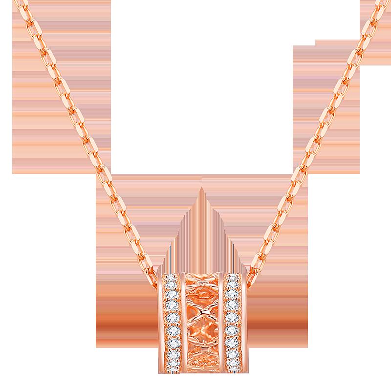 小蛮腰纯银925项链女潮网红18K新款锁骨链简约气质玫瑰金ins饰品