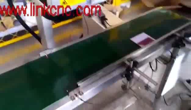 Support conveyor belt portable split flying fiber laser marking machine / fly marker