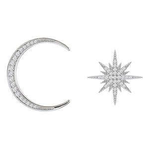 925星星月亮耳环高级感耳钉