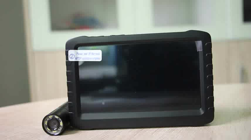 2.4ghz battery powered wireless pipe inspection camera with 5 inch tft lcd monitor (IR or LED for optional)