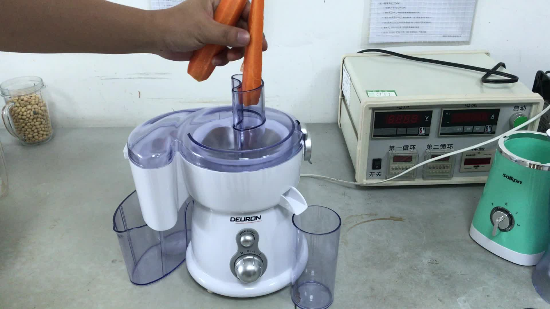 Single Blade Hand Food Mixer ~ Manual food processor electric hand blender with stainless
