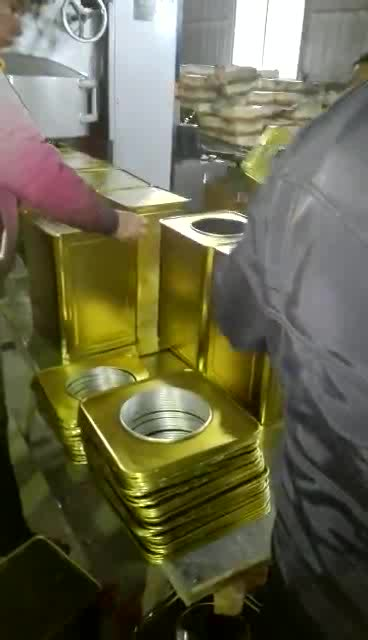 Automatic oil square metal can making line / tin can making machine