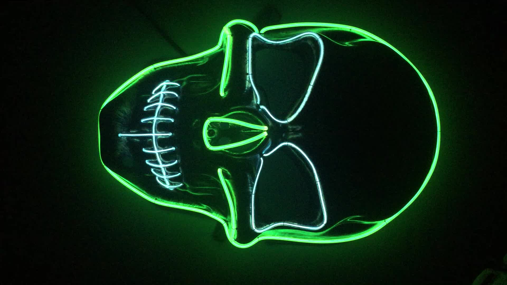New Styles El wire flashing led party mask