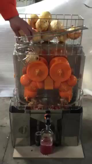 Commercial Fruit Orange Juicer Extractor Machine For Shopping Mall Use
