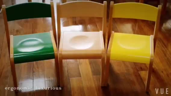 Cadeira de barbeiro de madeira para crianças