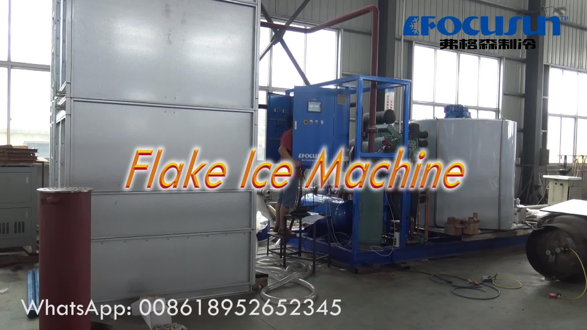 2019 10ton/giorno flake macchina del ghiaccio per la carne società di produzione | Ammoniaca di Ghiaccio in Scaglie Impianto | acqua marina maker