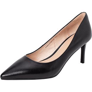 康莉商场同款2019新款真皮女高跟鞋