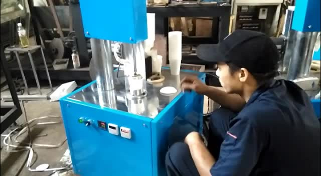 Automatic Tea Adding Hidden Cup / Glass Forming Machine