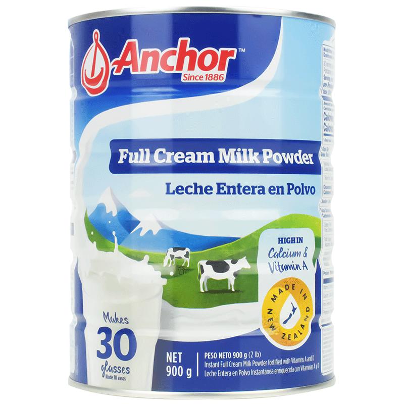 进口安佳全脂成年中老年人女牛奶粉