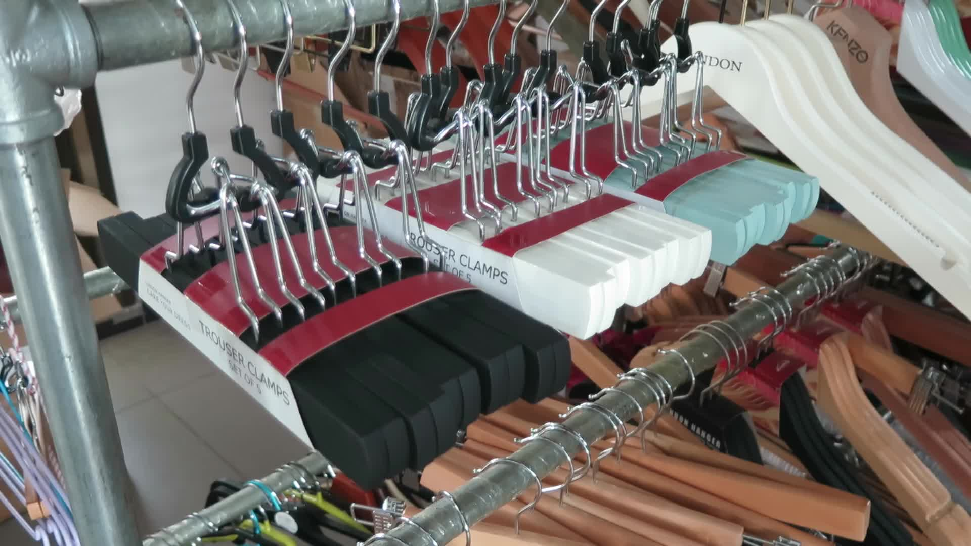 Deluxe Grey Painted Wooden Skirt and Pants Hanger