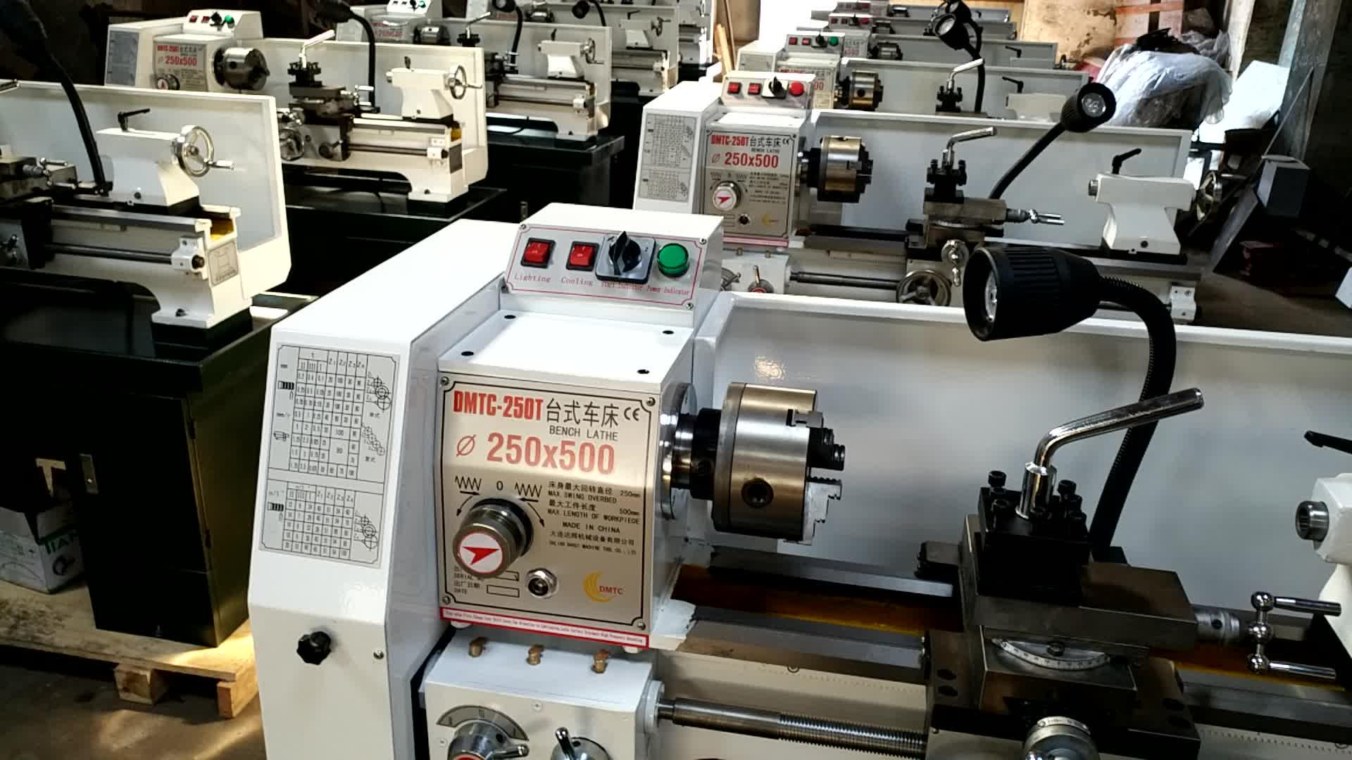 DMTC-250T China Supplier  High Precision Mini Lathe Bench Lathe Desktop lathe