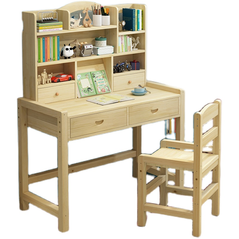 学习桌实木小学生书柜简约写字桌椅质量怎么样