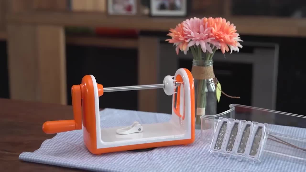 B438-A Curly fries ribbons angel hair and spaghetti fettuccine spiralizer 5 blade vegetable slicer chopper spiralizer
