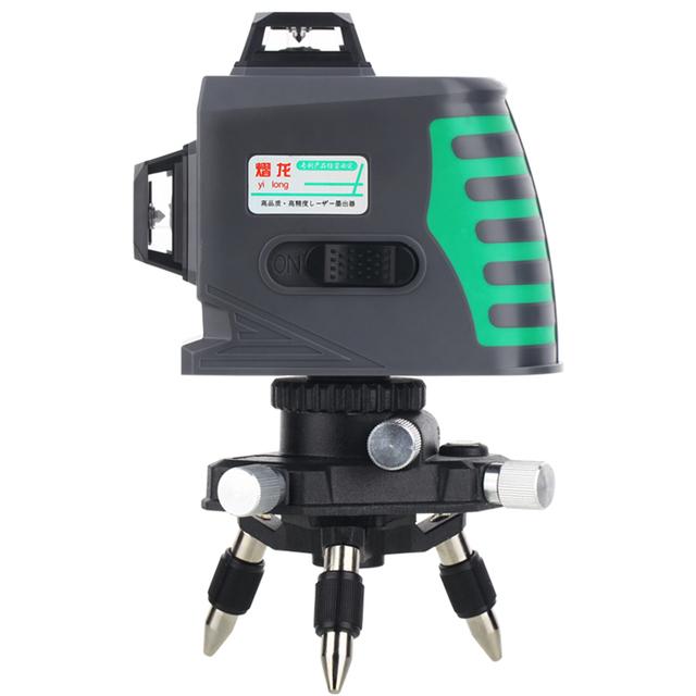 12线水平仪绿光高精度贴墙仪蓝光自动调平激光红外线平水仪绿外线
