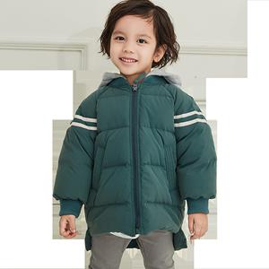 帽童装羽绒服中长款中小童宝宝卫衣