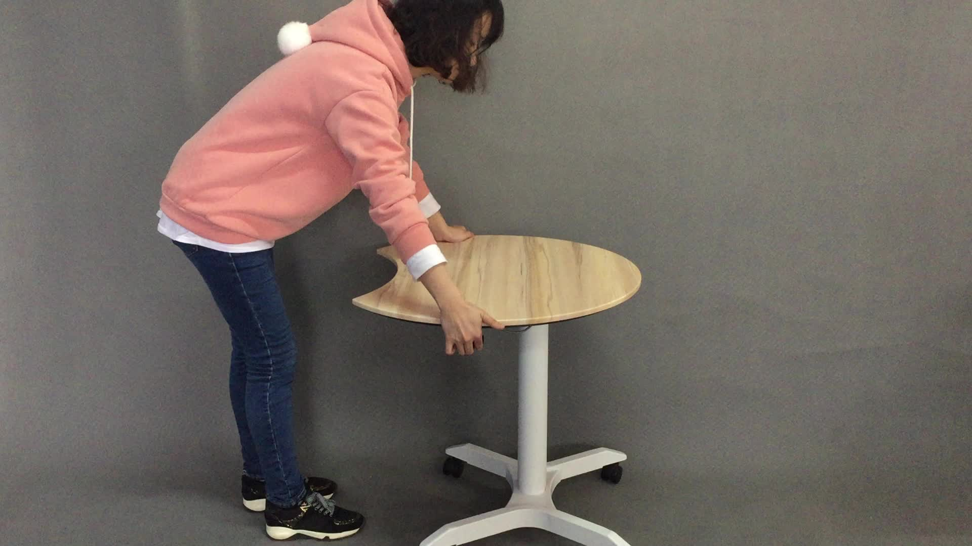 Pneumatic gas lifting Height Adjustable Laptop Table Stand