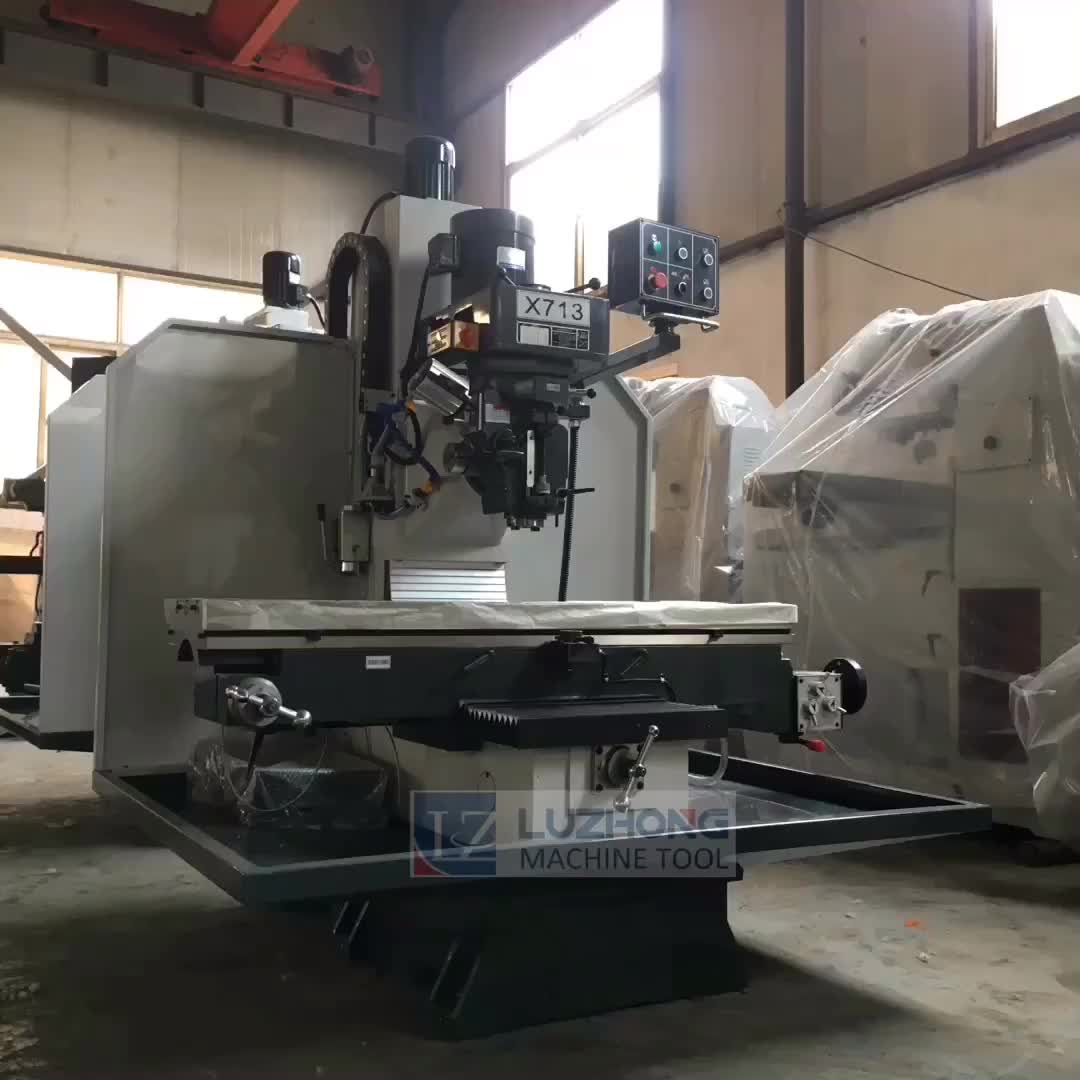 Milling machine with magnetic table X713 bed type universal milling machine