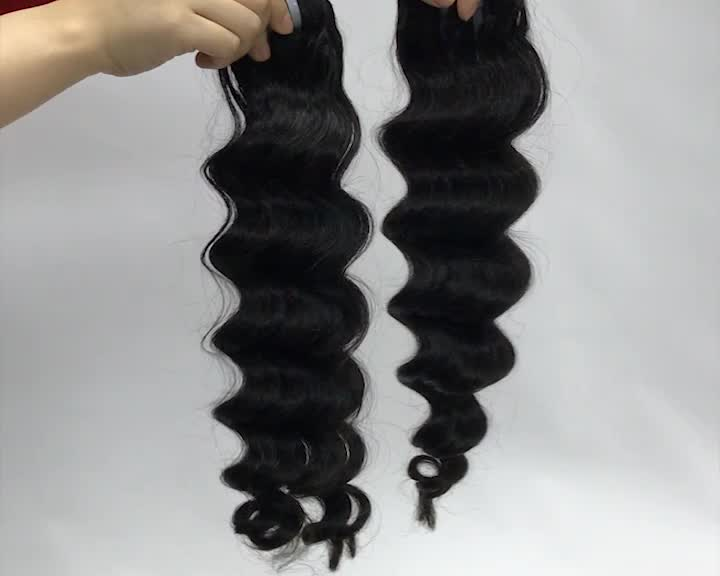 Unprocessed soft and smooth loose deep mink brazilian hair