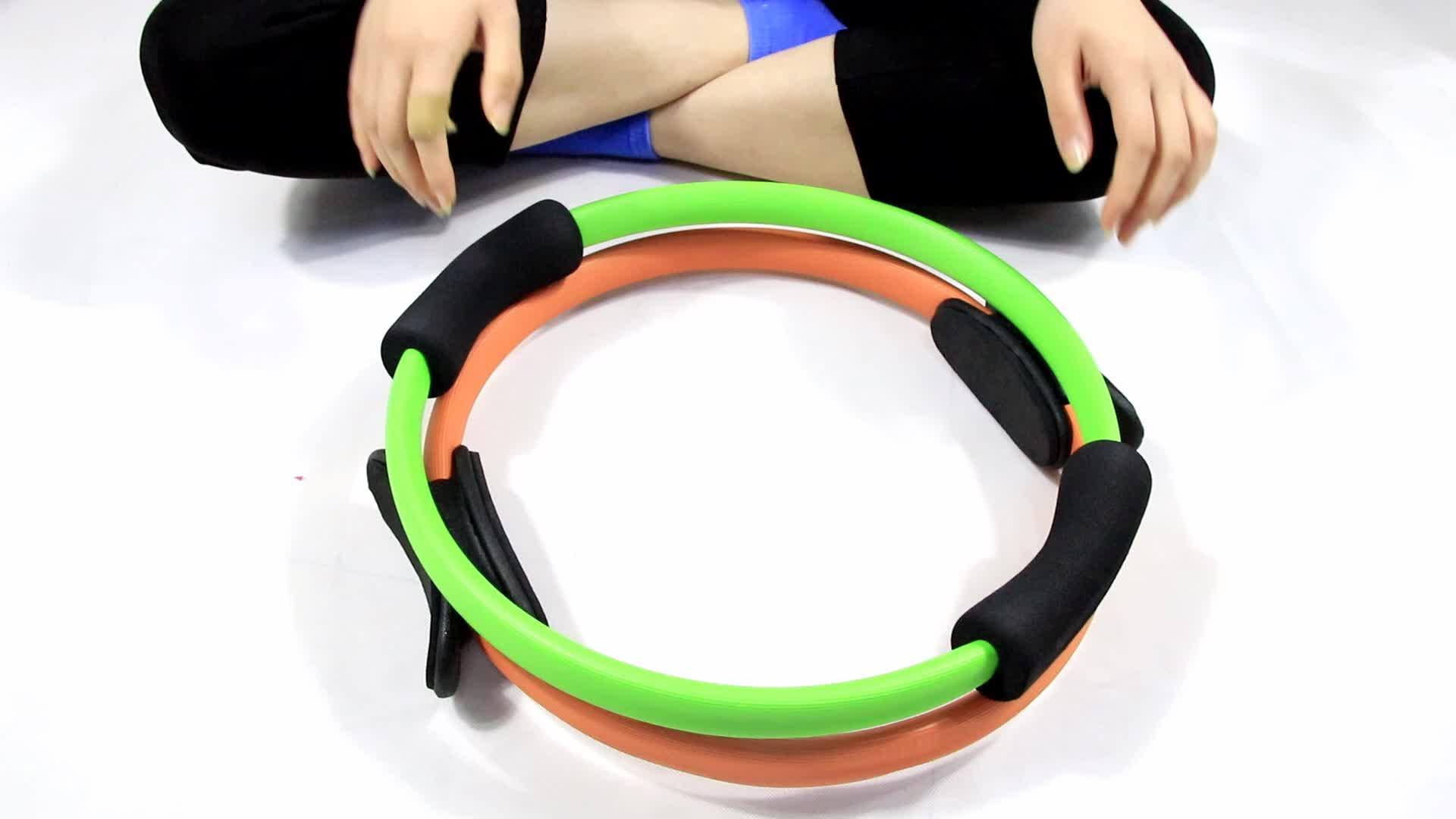 โยคะพิลาทิสแหวนดีวีดีการออกกำลังกายพิลาทิสต้านทานแหวนออกกำลังกาย