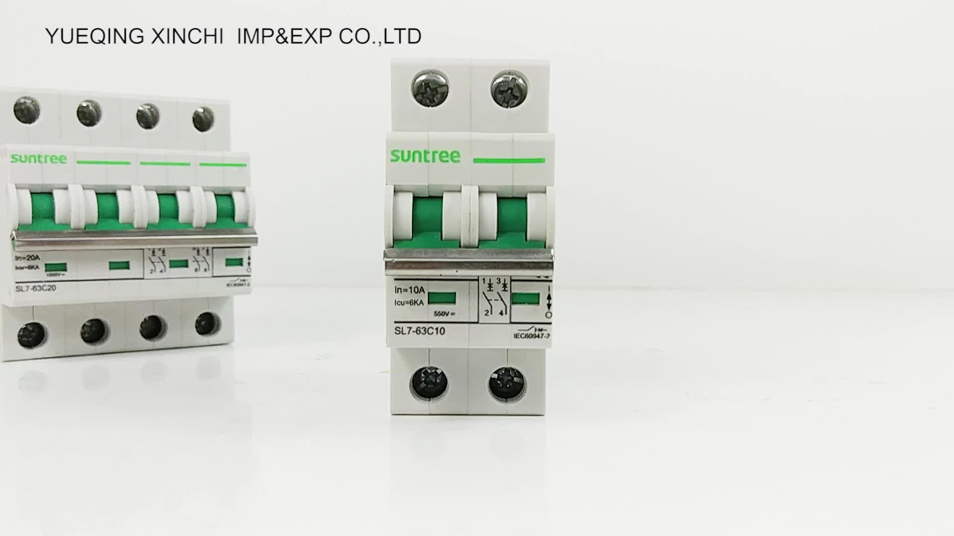 DC MCB High Quality Miniature Circuit Breaker IEC, TUV, SAA,CE Certificate Solar Photovoltaic DC Suntree Breaker