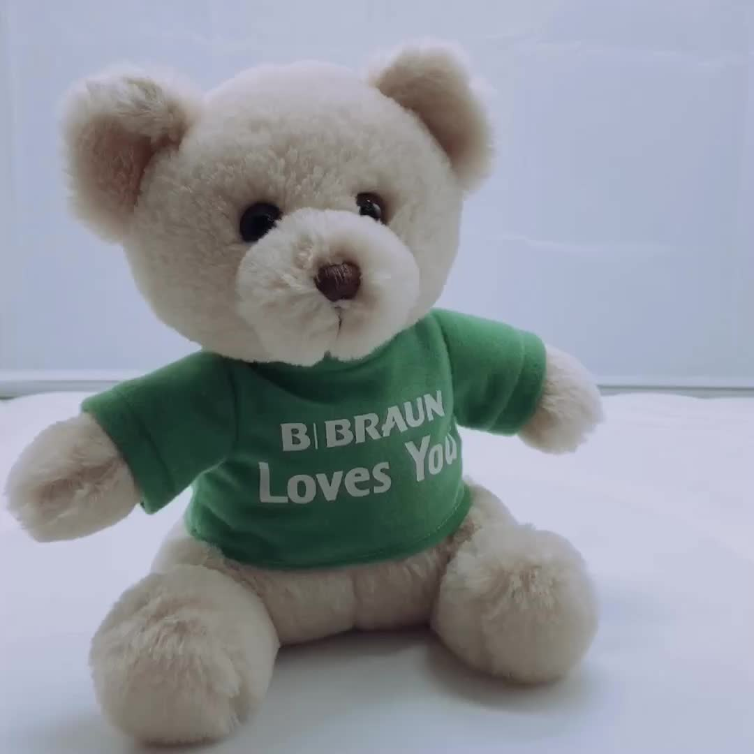 238d029df62 China Factory Personalized Plush Teddy Bear With T-shirt - Buy Plush ...
