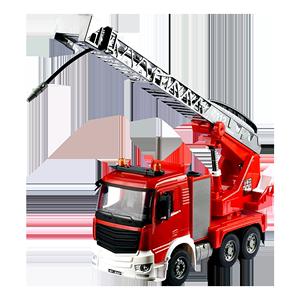 双鹰大号吊车消防车玩具水泥搅拌车
