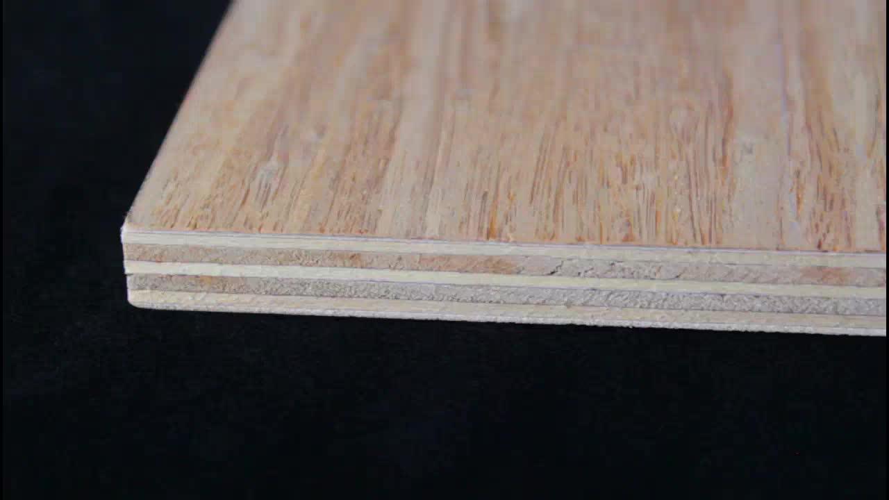 Exterior Interior Strand Woven Bamboo Wood Veneer Panels